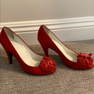 Sigerson Morrison Shoes - Red suede heels